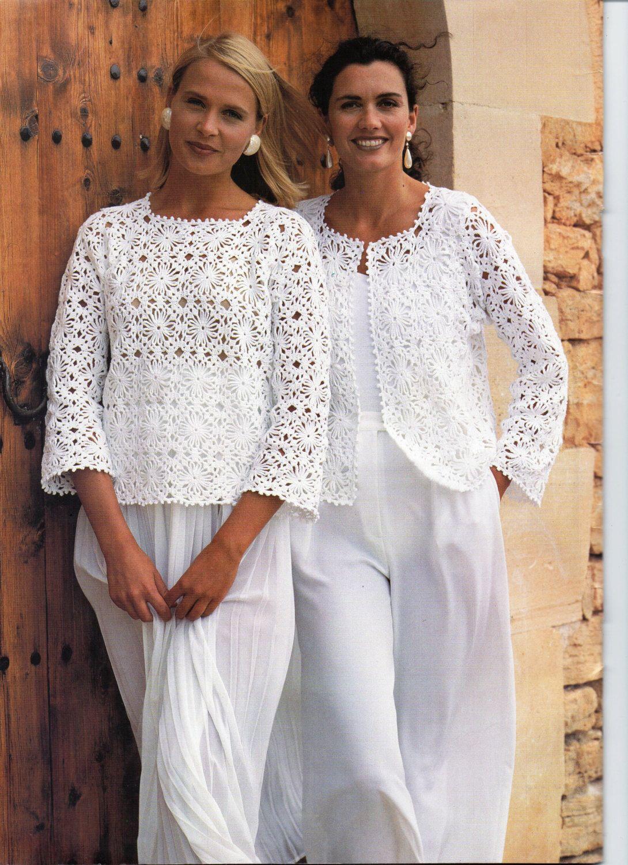 Womens CROCHET PATTERN Ladies Crochet Jacket Gilet Sweater Top ...