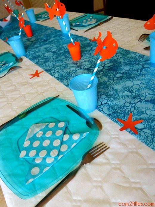 une d coration de table sur le th me de n mo soir e pour les enfants pinterest deco table. Black Bedroom Furniture Sets. Home Design Ideas