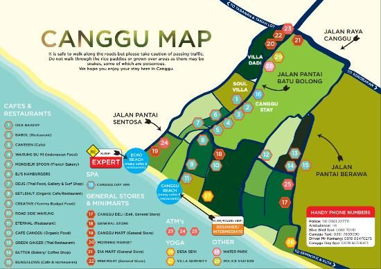 map of Canggu - Picture of Canggu Beach, Canggu - TripAdvisor