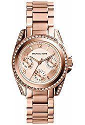 Amazon.com: Michael Kors Women's Blair Rose Gold-Tone Watch MK5263: Michael Kors: Watches