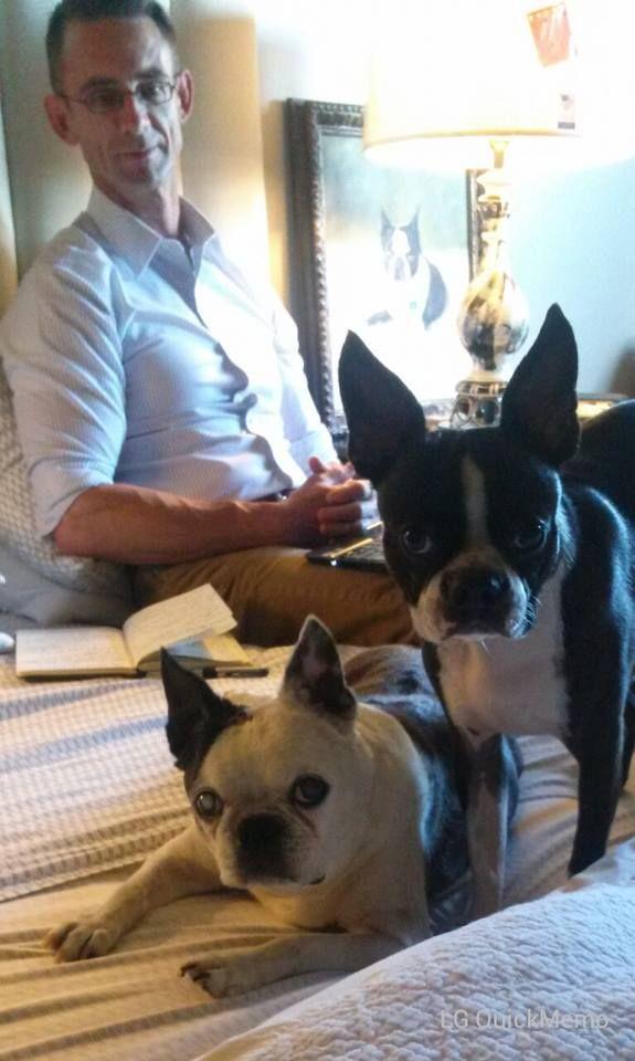 Chuck Palahniuk And His Dogs Boston Terrier Love Boston