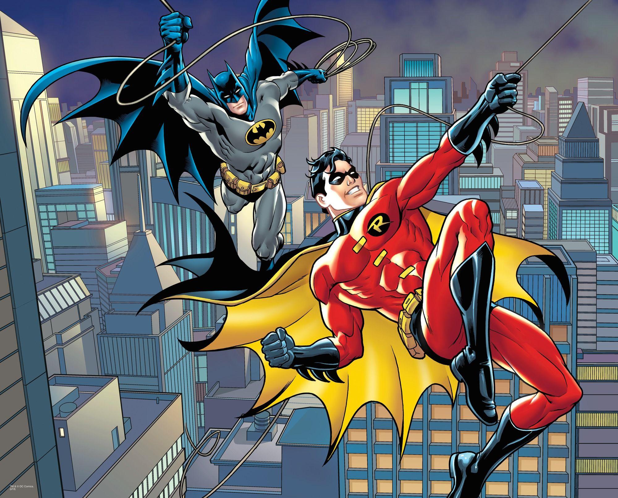 Dc Comics Batman And Robin Rope Swing Wall Mural Dc