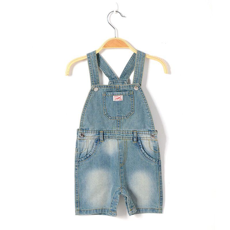 8eefbcd0da91 baby boy brand denim romper newborn jeans playsuit summer kids overall  short pants boy dungaree toddler