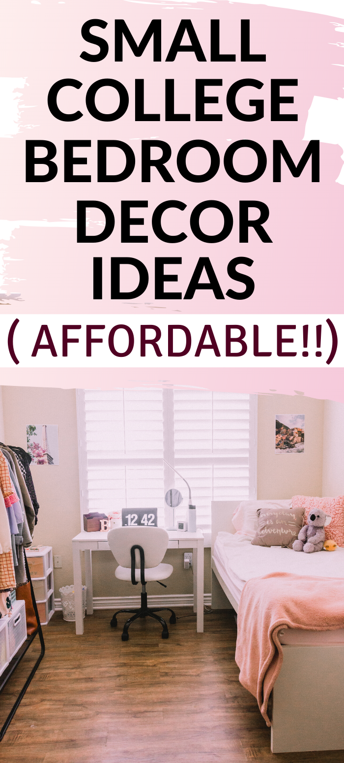 Small Bedroom Decor Ideas And Helpful Space Saving Hacks In 2020 Small Bedroom Decor College Bedroom Decor Bedroom Decor