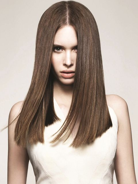 one length haircuts square one length below the shoulder hairstyles 2342