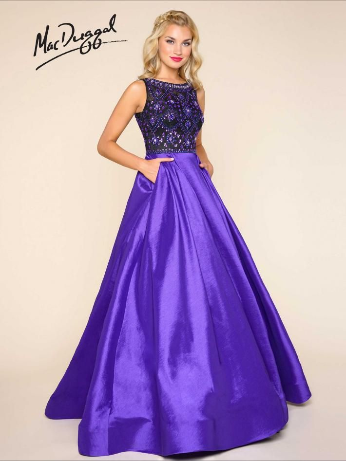 8b341db7ad4 Purple ball gown with sheer beaded bodice