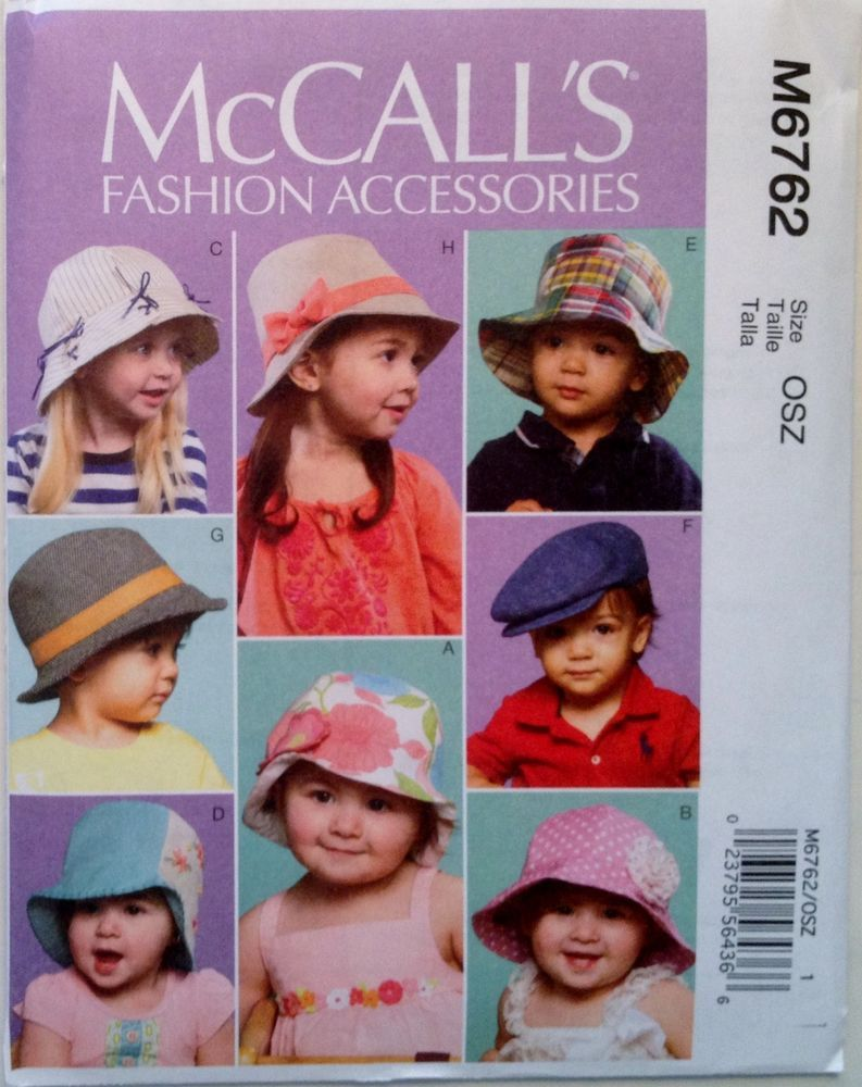 McCalls Baby /& Toddlers Sewing Pattern 6762 Sun Hats McCalls-6762-OSZ