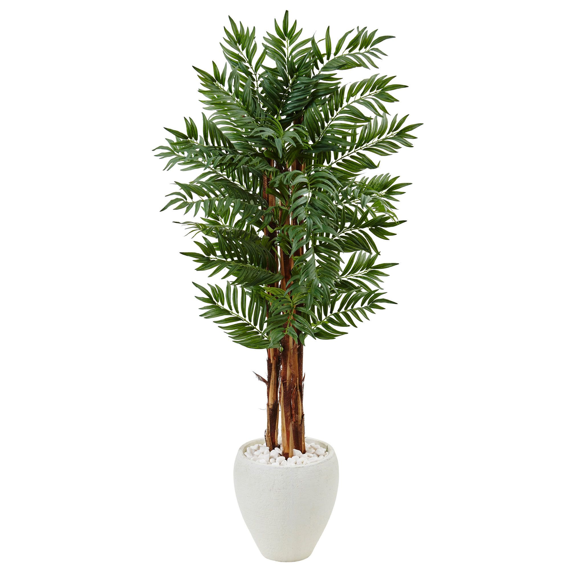 Artificial parlor floor palm tree in planter products pinterest