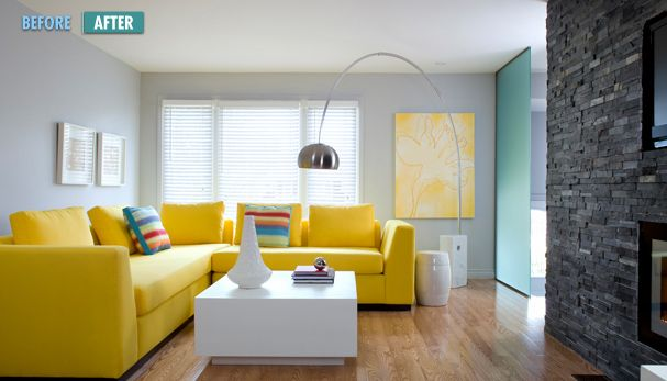 Blue Sofa Decorating Ideas Cute Yellow Living Room With Yellow Sofa Ideas Yellow Living Room Living Room Colors Grey And Yellow Living Room