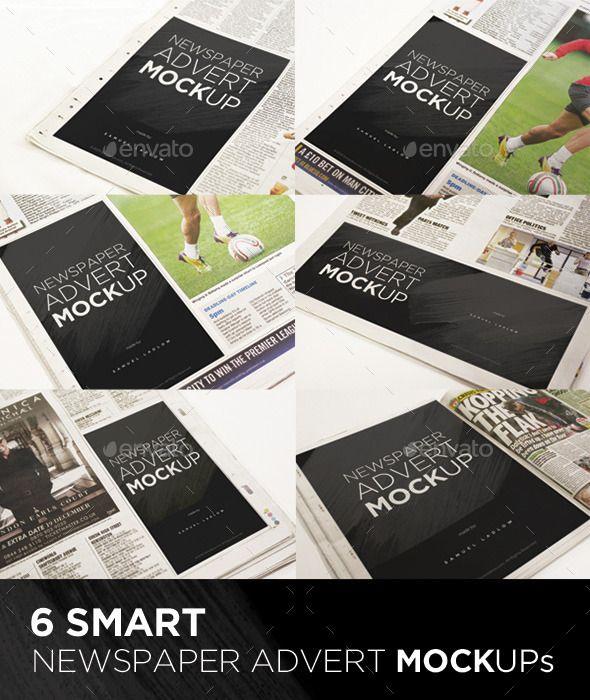 6 Newspaper Advert Mockups Mockup Graphics And Fonts