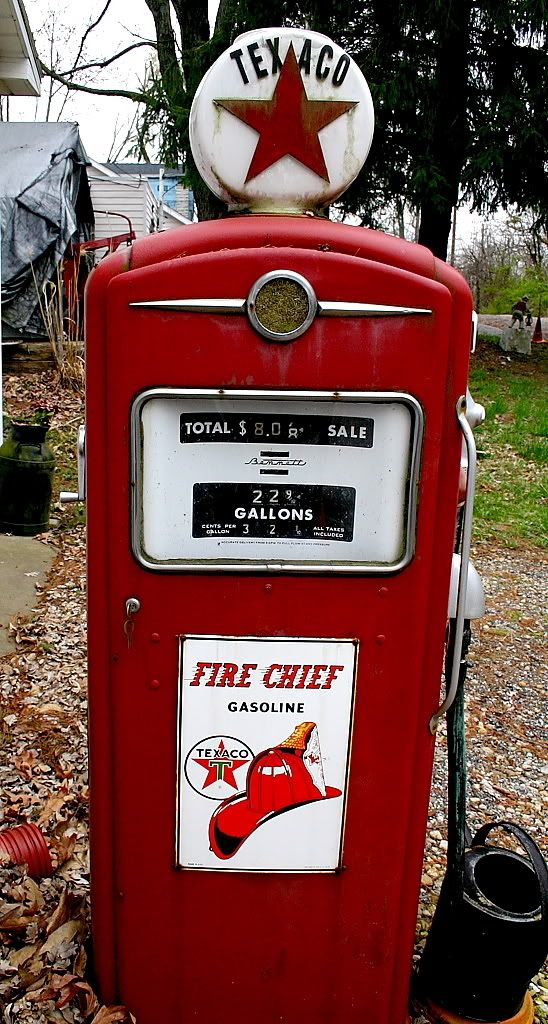 Vintage Texaco gas pump