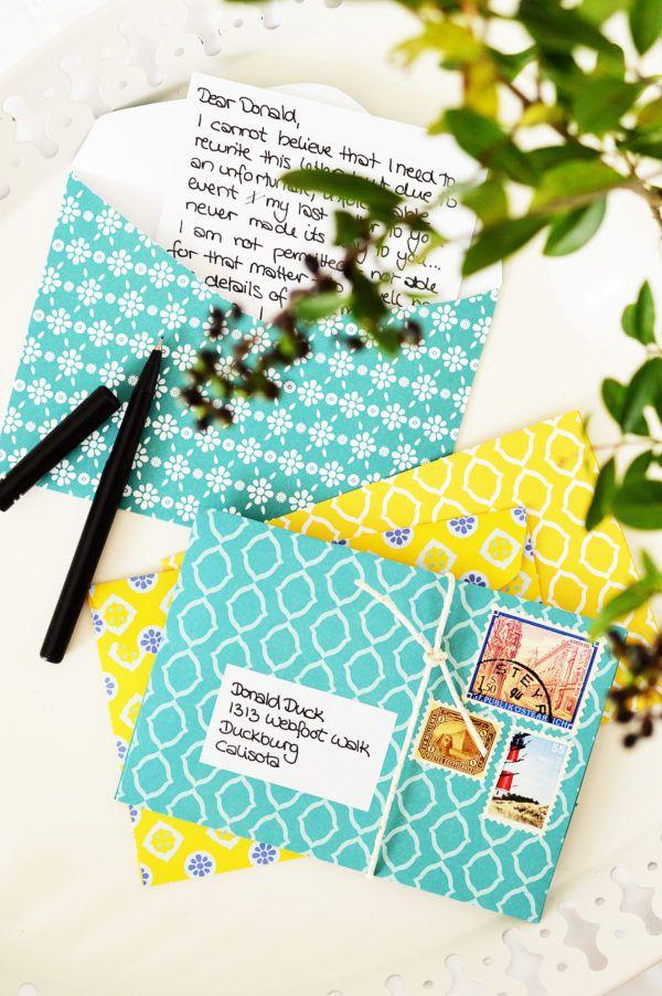 briefumschl ge selber falten origami pinterest. Black Bedroom Furniture Sets. Home Design Ideas
