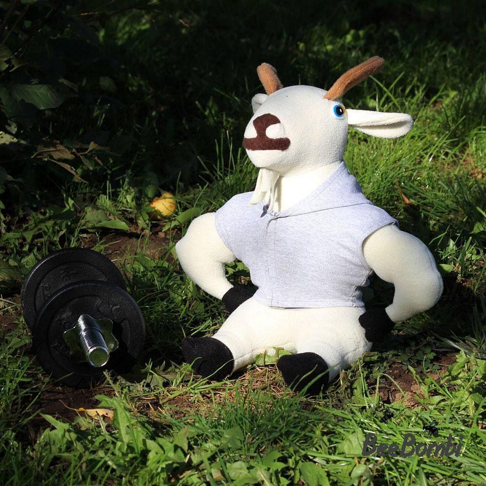 Plush goat sewing pattern #goat #plushgoat #plushtoy #softtoy ...