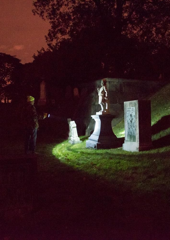 Exploring the historical Greenwood Cemetery in Brooklyn, New York after dark