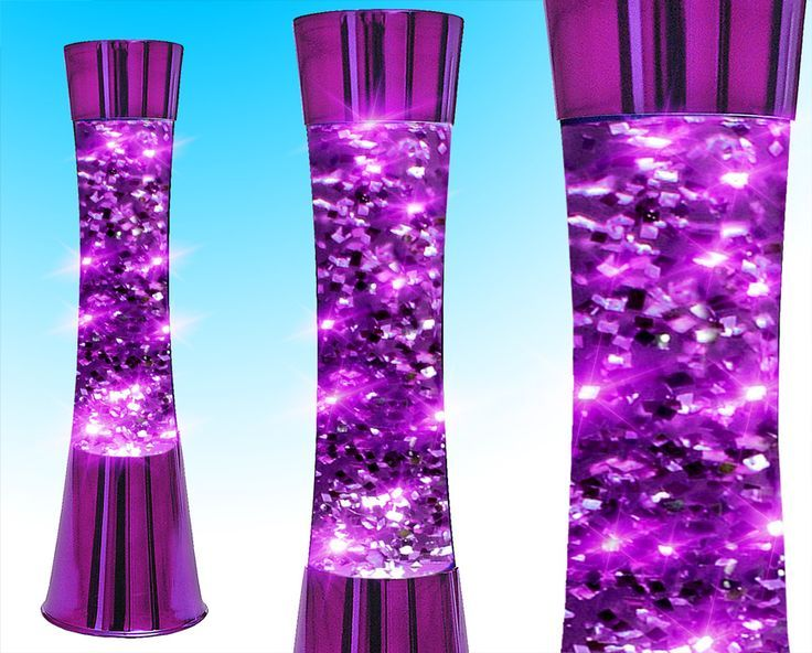 Purple Lava Lamp | Funky Retro Concave Purple Glitter Lava Lamp