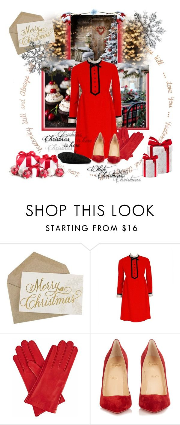 """Feliz Navidad 🤗"" by cool-cute ❤ liked on Polyvore featuring Geoffrey Beene, Gizelle Renee, Christian Louboutin, Gucci, Winter, Christmas, winterstyle, Christmasoutfit and winteressentials"