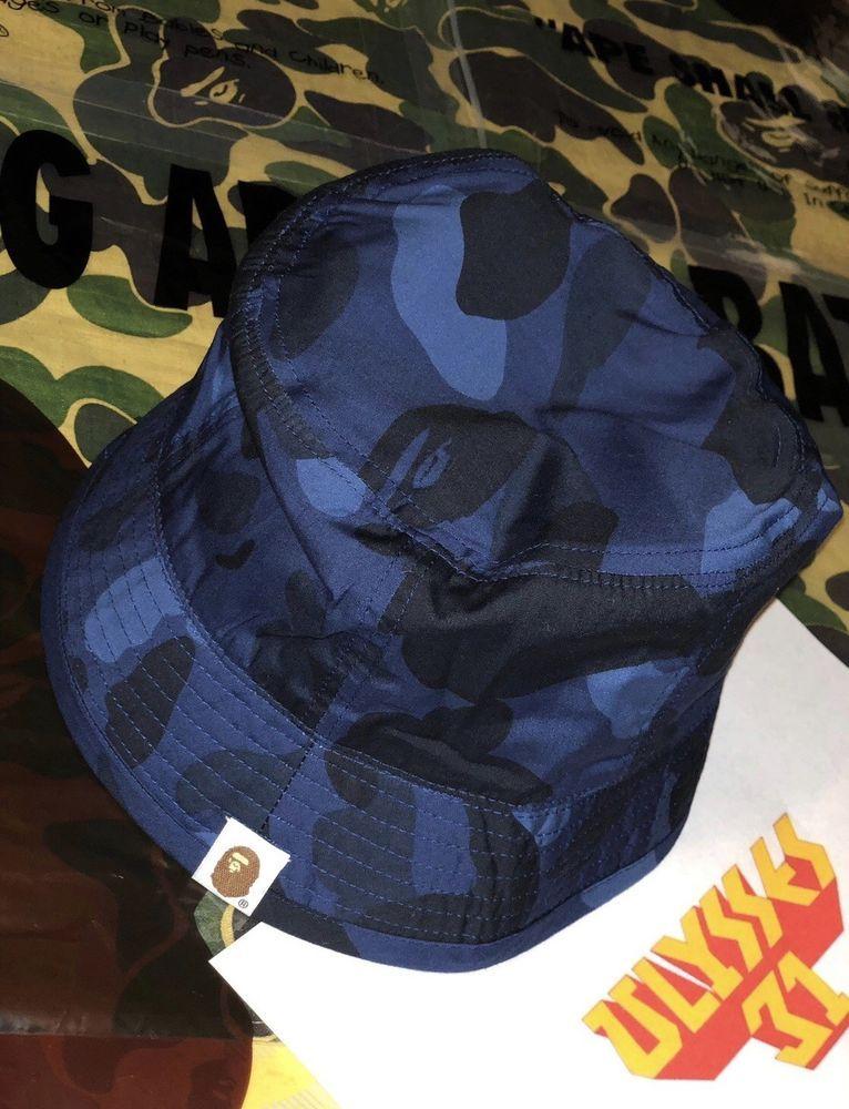 47473b9e42c95 Bape Hat A Bathing Ape Pharrell CAMO Bucket Hat 100% Authentic  ABATHINGAPE   BAPEBucketHat  BAPE