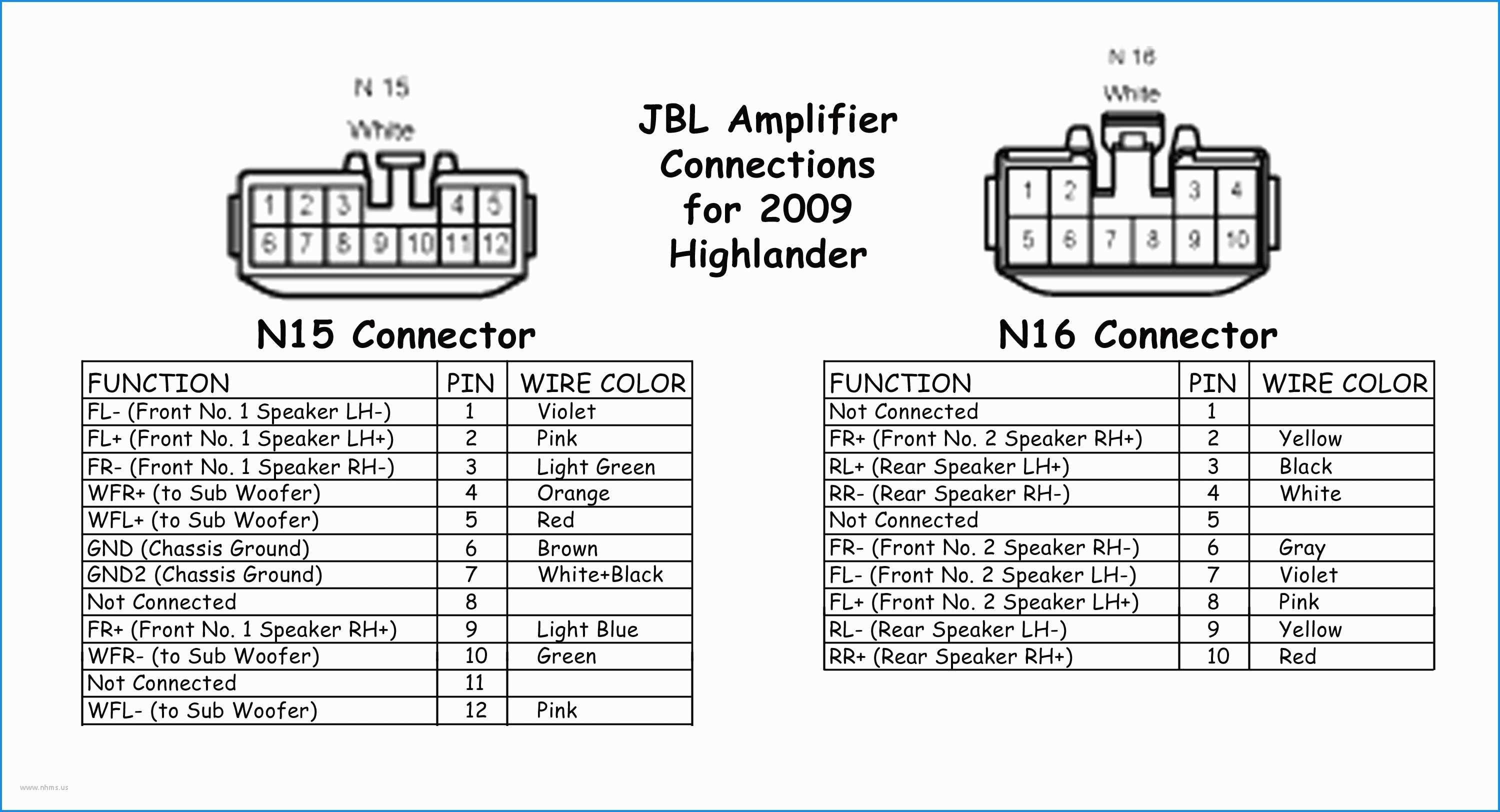 2004 Toyota Highlander Radio Wiring Diagram