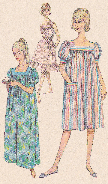 Muumuu Dress Patterns : muumuu, dress, patterns, 1960's, Misses, Pattern, Simplicity,