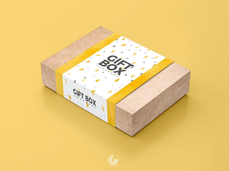 Download Free Craft Paper Gift Box Mockup Psd 2018 Box Mockup Free Mockup Free Packaging Mockup