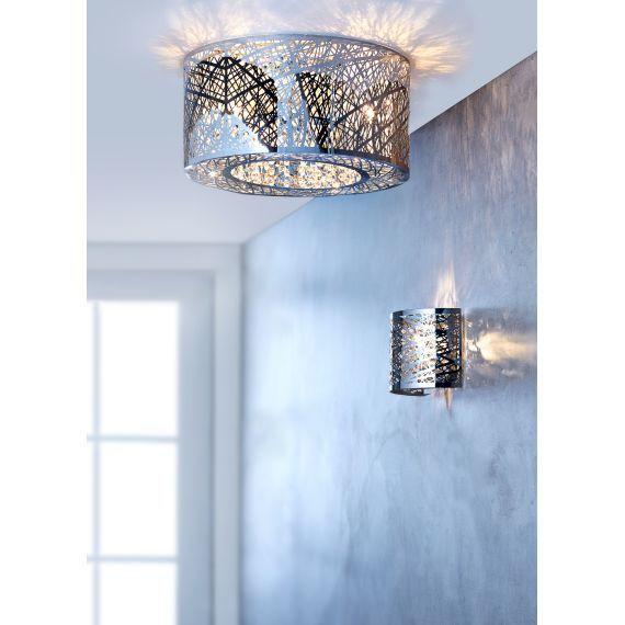 Deckenleuchte Grate Aus Glas Und Metall Ein Tolle Wirkung Fur Jedes Zimmer Deckenlampe Lampe Lampen Und Leuchten
