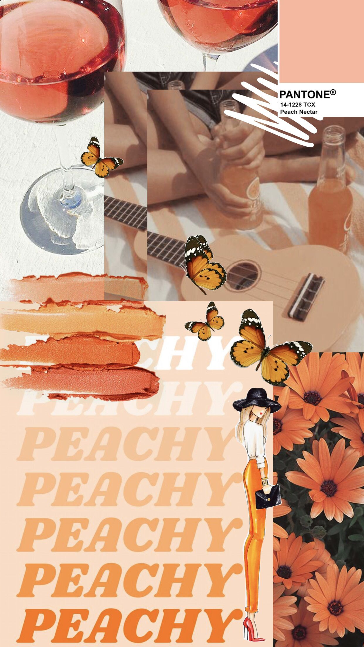 Wallpaper Collage Orange Editorial Photoedits Colorpalette