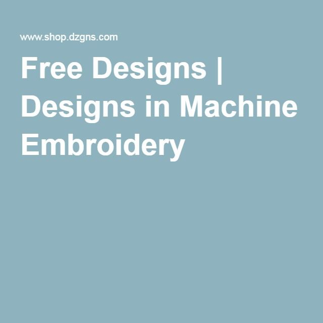 Free designs in machine embroidery