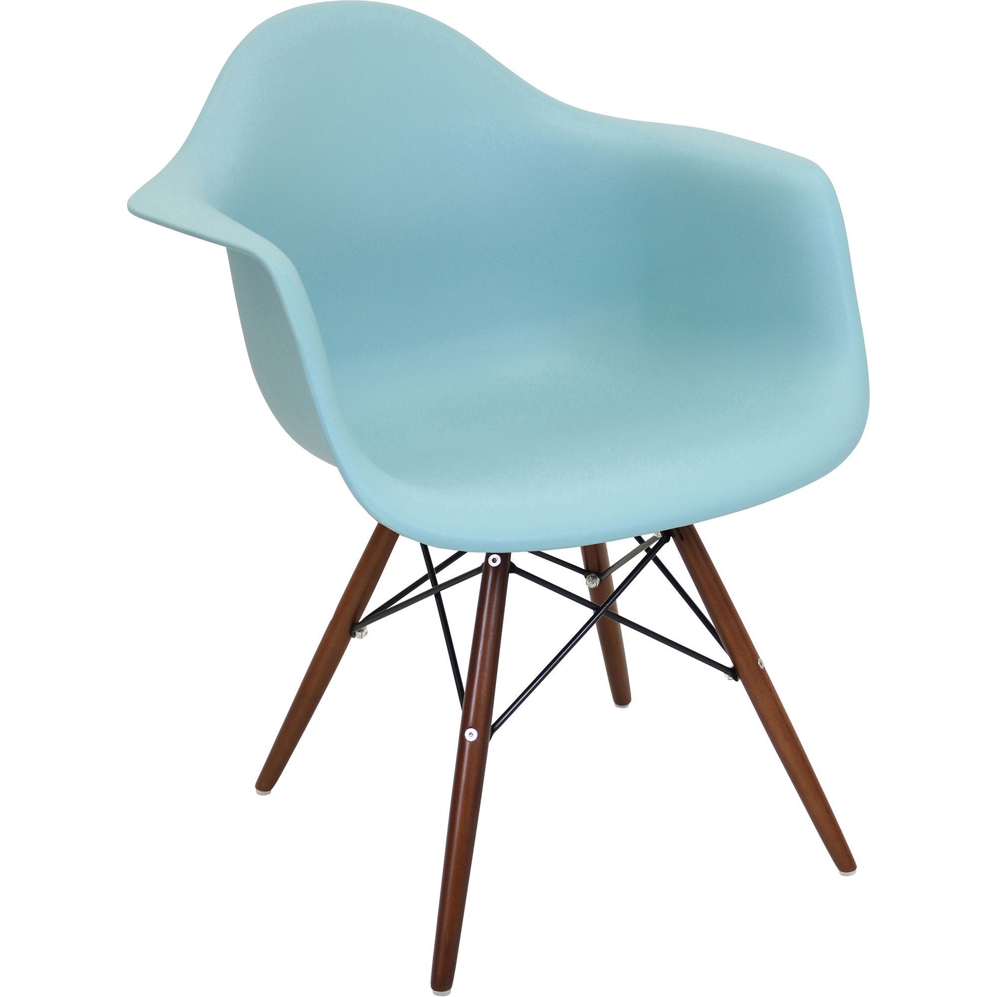 Neo Flair Chair (Set of 2), Sea Green/Espresso | Espresso and Products