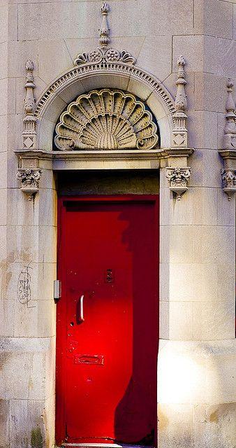 Mysterious Red Door - NYC #red #door #myobsessionwithreddoors