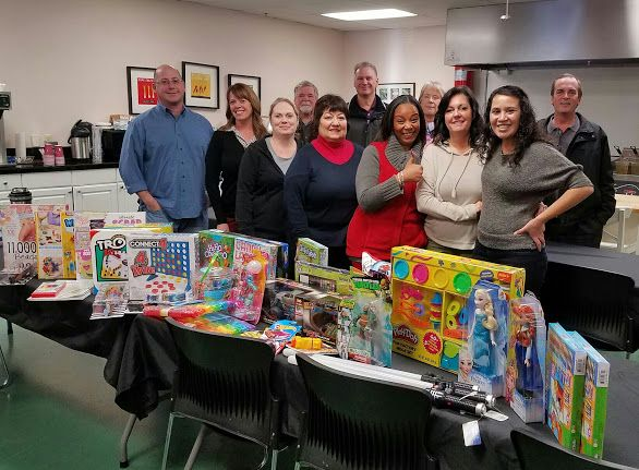 The Seattle team donating toys to Vine Maple Place for their wonderful Christmas Store! https://goo.gl/d55lFk Children come and 'shop' for their brothers, sisters, cousins and family, and the generous team at Vine Maple Place add the magic dust by wrapping them all! https://goo.gl/a5GXdj Thanks to all the JG Neil team for their fantastic donations.
