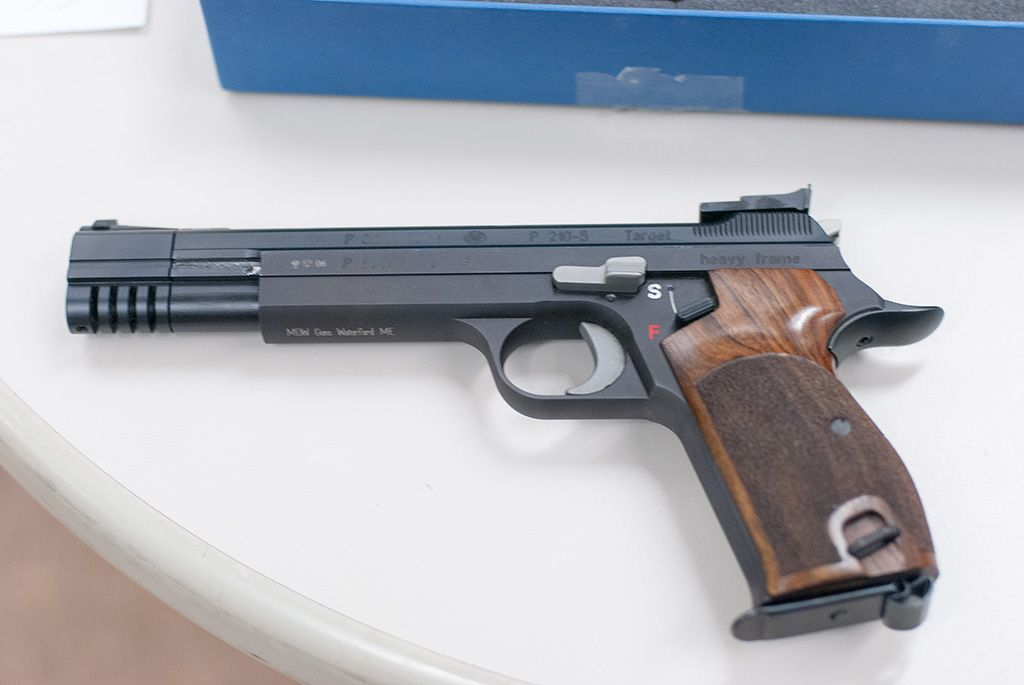 sig arms p210 5 heavy frame waffen oschatz guns pinterest