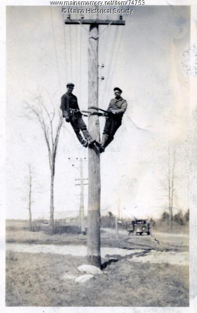 Electric Linemen On Pole 1930 Lineman Power Lineman Journeyman Lineman