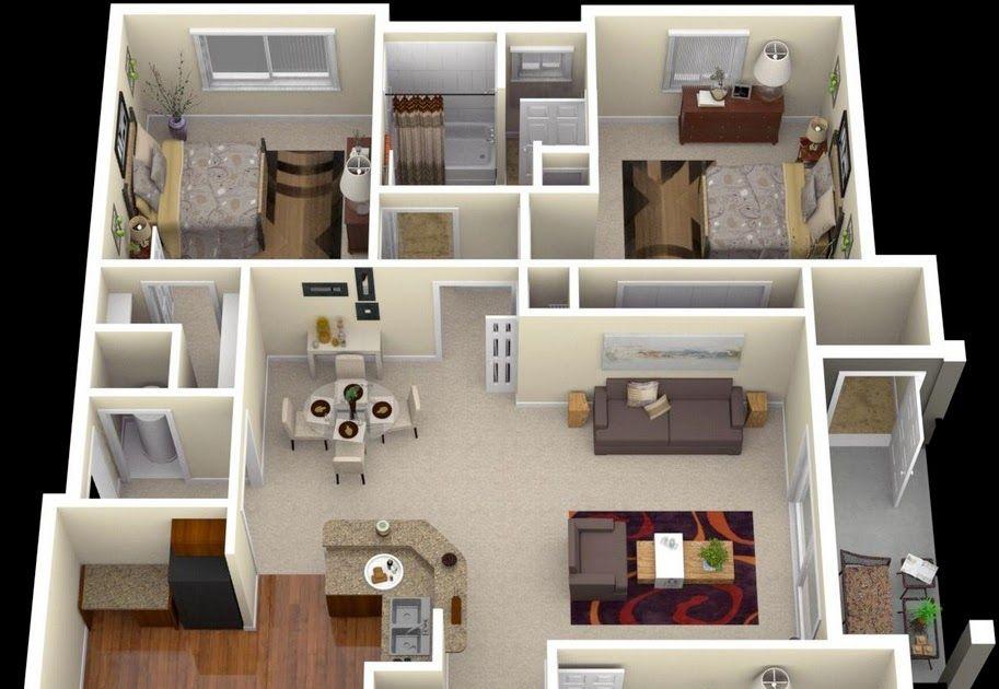 Dreamz Samadhan By Dreamz Infra 1 Rk 2 3 Bhk Bhk 3 Bhk House Plan In 1200 Sq Ft 2 Bedroo In 2020 One Bedroom House Plans Bedroom House Plans Single Floor House Design