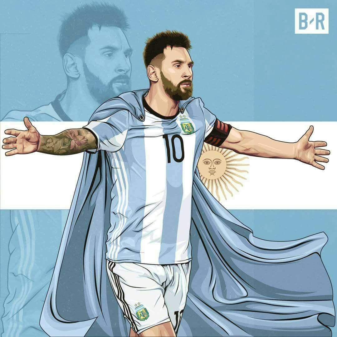 Messi O Salvador Argentino Messi Argentina Futebol Jogadores