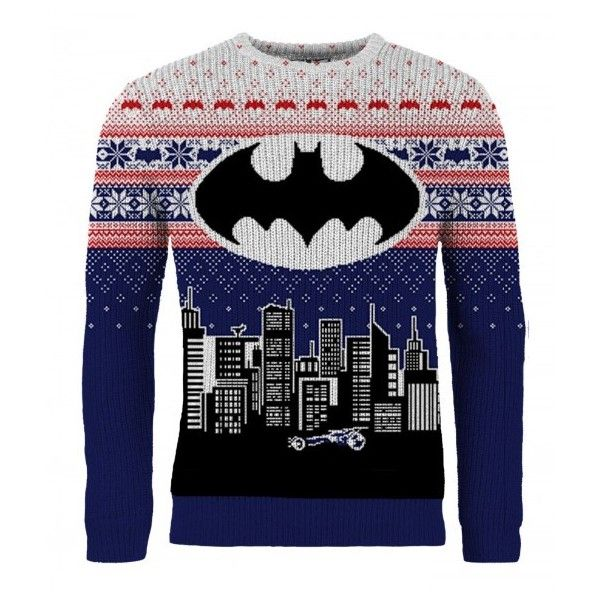 Batman Christmas Sweater.Batman Christmas In Gotham Knitted Christmas Sweater Jumper