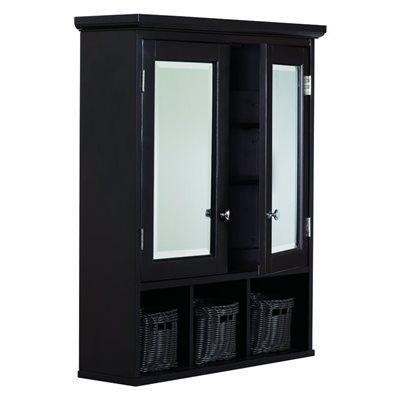 Allen Roth Espresso 24 75 In X 30 25 In Medicine Cabinet With Baskets Renovation Hardware Cabinet Surface Mount Medicine Cabinet
