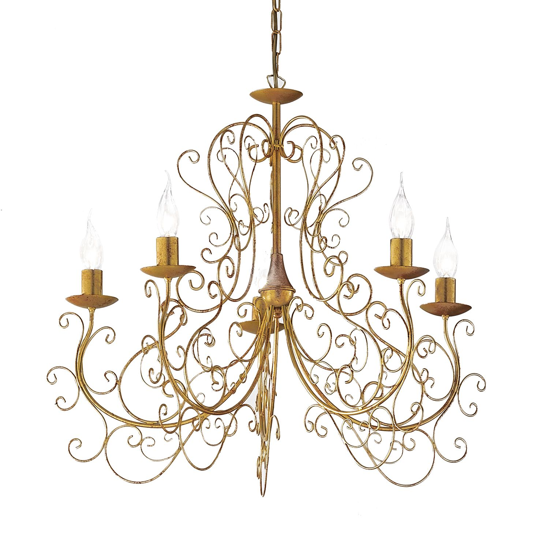 Bezaubernd Kronleuchter 8 Flammig Foto Von Eek A+, Palazzo - Metall - Gold