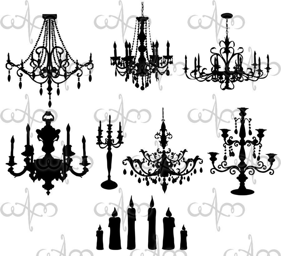 baroque chandeliers clip art graphic design pattern by. Black Bedroom Furniture Sets. Home Design Ideas