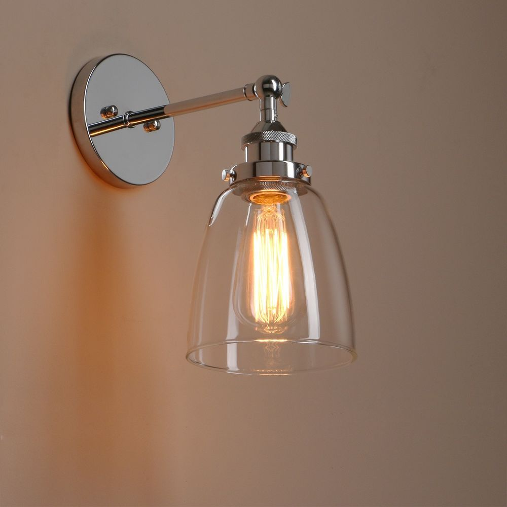 sconce wall shade battery lighting industrial gray dry tropical paper up home looking design crystal interior orange lights half good location moon