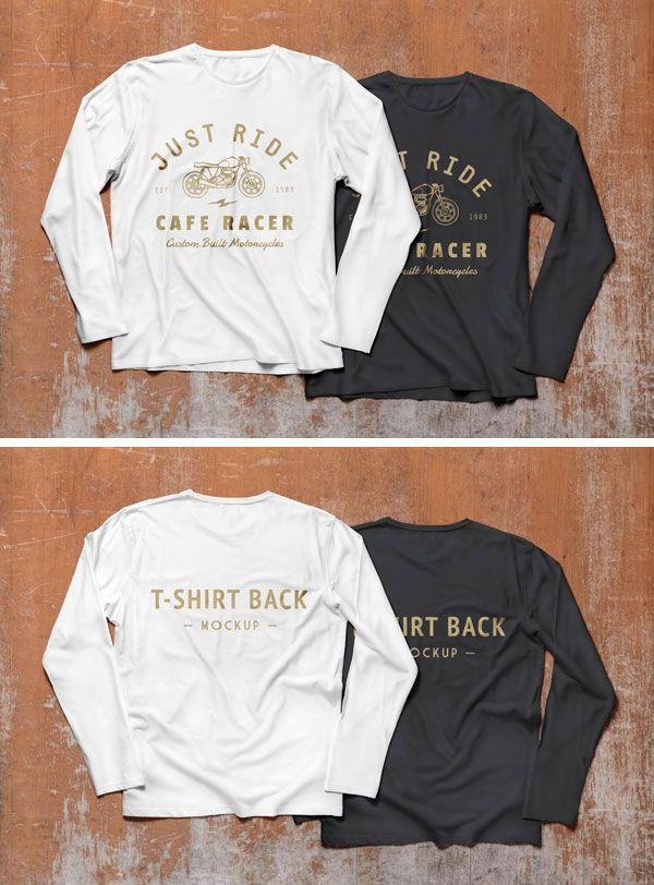 """Download À¹à¸'นยาวเส À¸à¸¢ À¸""""จำลองข À¸™ Psd Tshirt Mockup Shirt Mockup Black And White T Shirts"""