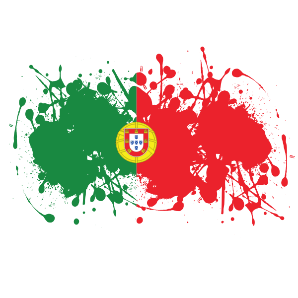 Portugal Flag Ink Splatter In 2021 Ink Splatter Portugal Flag Free Clip Art
