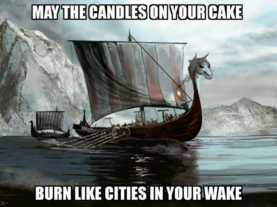 Viking Birthday Cake Burn Like Cities
