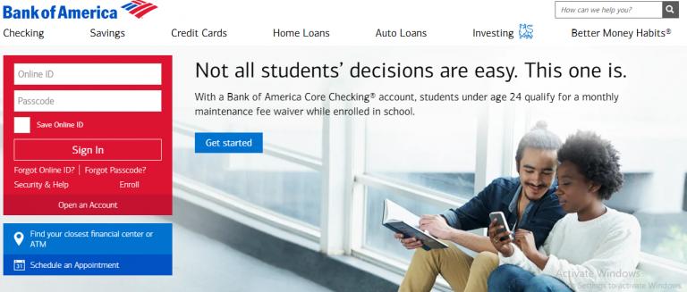 Bank Of America Login Issues Bank of america, Bank of