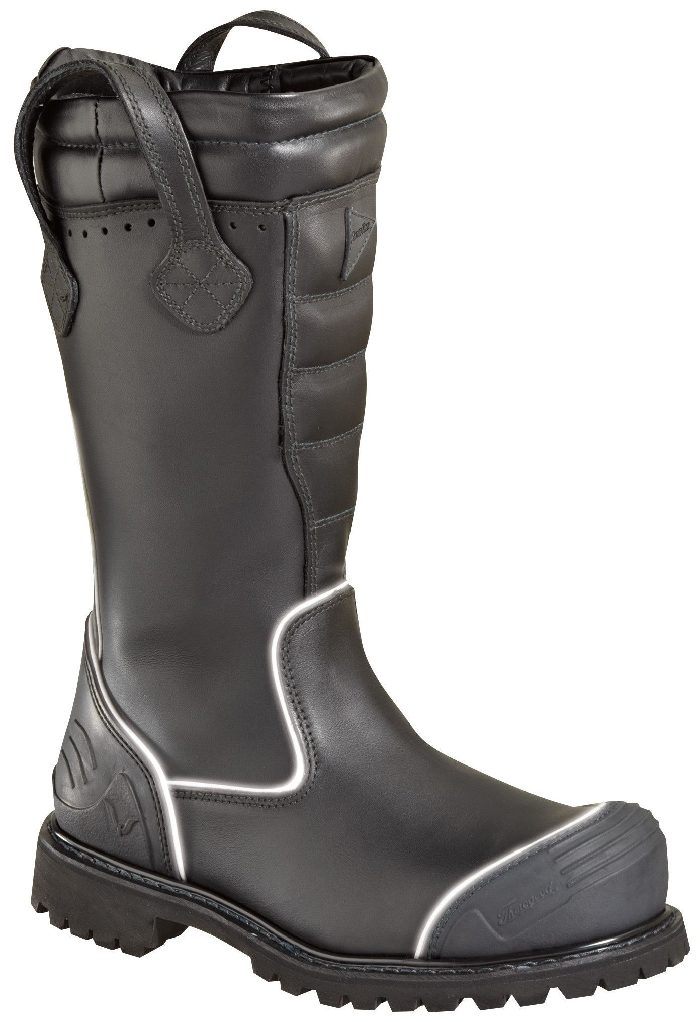 a94253d9579 Thorogood Womens Power Black Leather Work HV Structural Bunker Boot ...