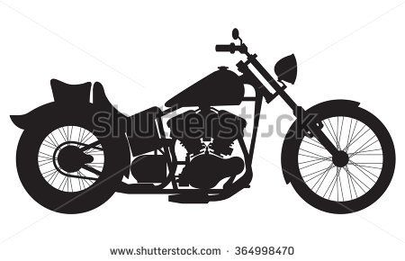 SWEN Products EASY RIDER MOTORCYCLE Simple Silhouette