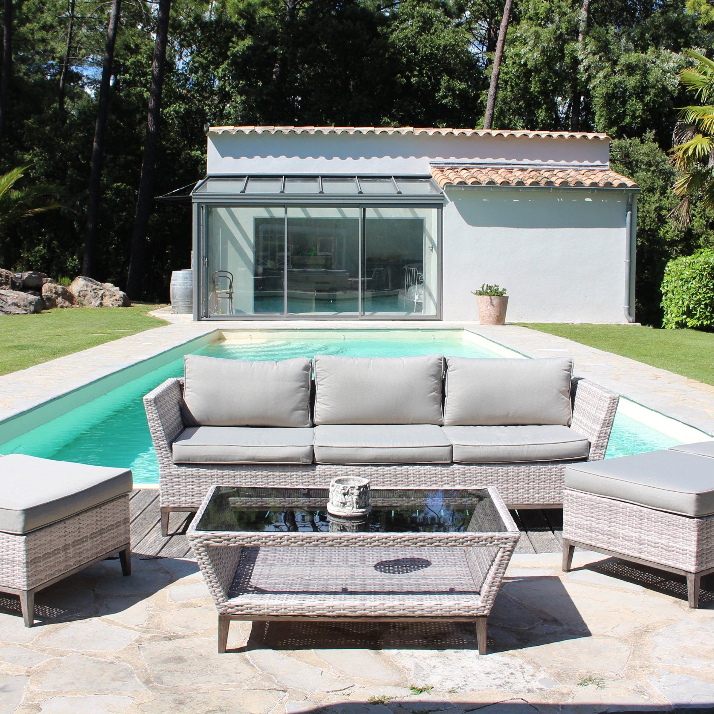 Salon Bas De Jardin Couleurs Du Monde Escale Resine Tressee Beige