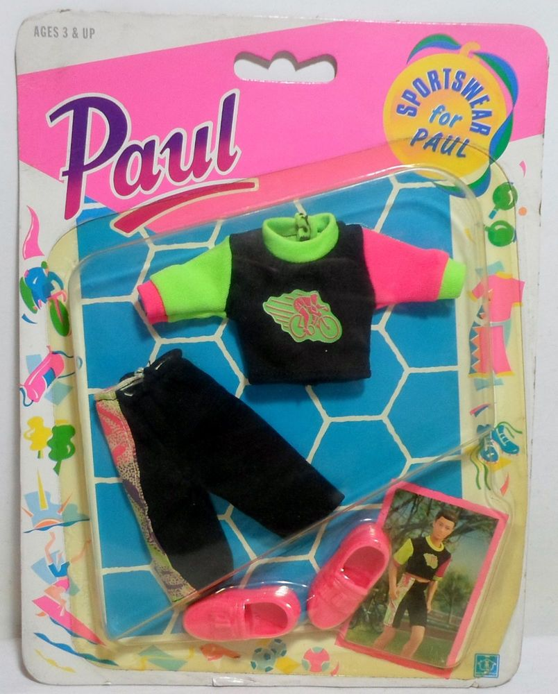 HASBRO 1990 SINDY SPORTSWEAR FOR PAUL FASHION FASHIONS EUROPEAN C-222 SEALED B #Hasbro #ClothingAccessories