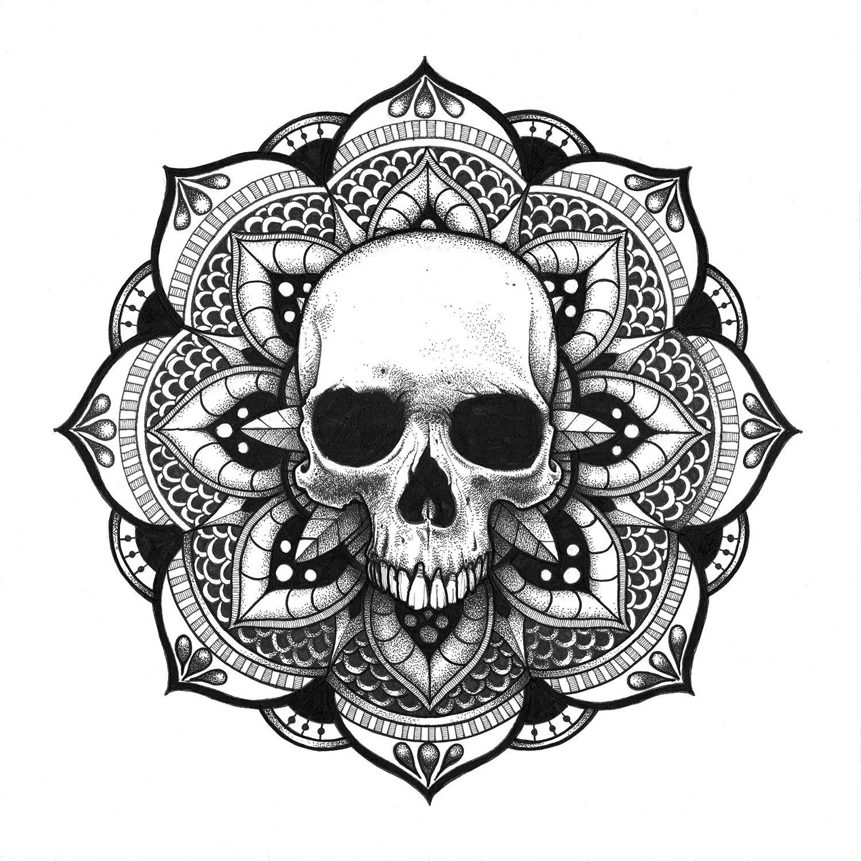 Mandala Crâne Skull Mandala … | Pinteres…