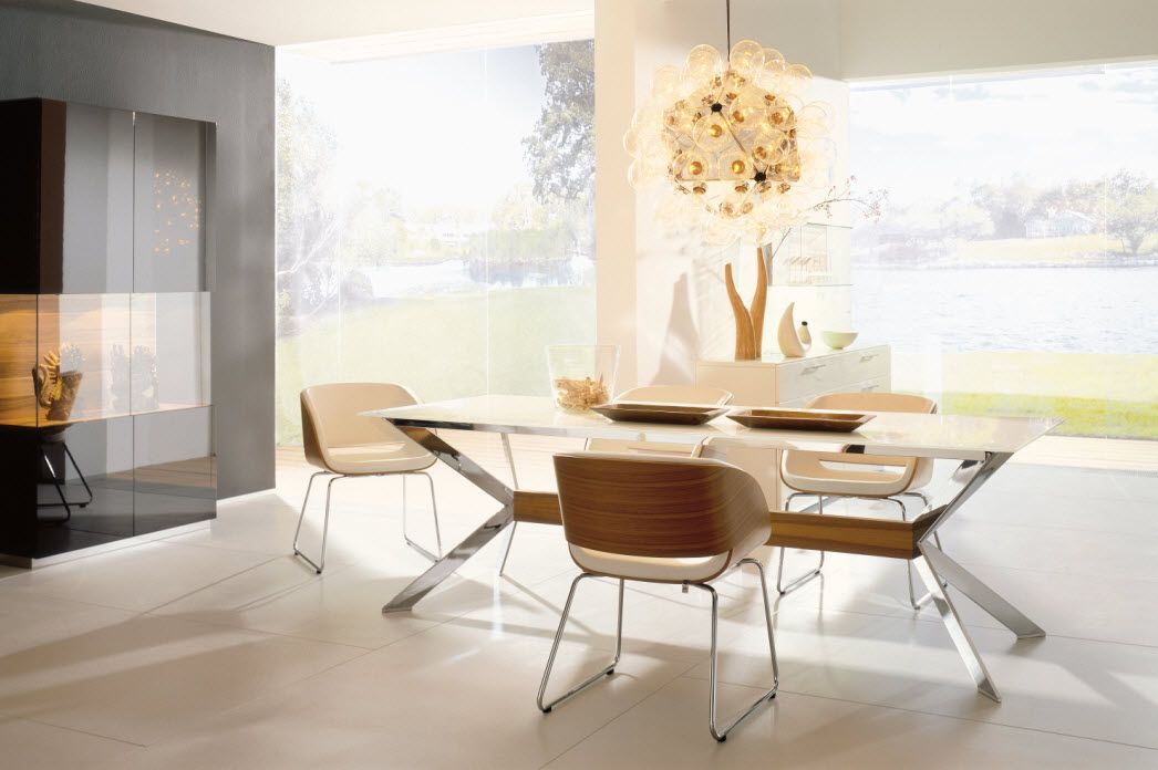 Elegant Bright Dining Room Design With Chairs And The Cool Modern