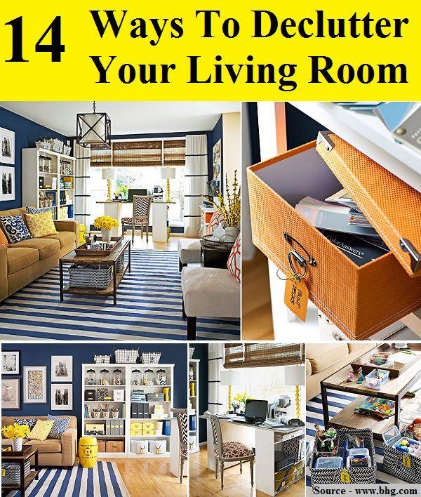 14 Ways To Declutter Your Living Room